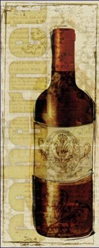 Wine Bottle Collage I